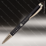 Engraved Metal Black Gloss Ballpoint Pen with Stylus Engraved Metal Writing Pens