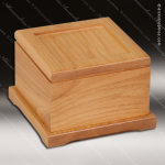 Engravable Memorial Pet Urn Red Alder With Photo Tile Engraved Misc Gift Boxes
