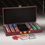 Gift Award Rosewood Accented Card & Dice Set Engraved Misc Gift Boxes