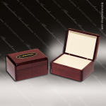 Rosewood Piano Finish Jewelry Box Engraved Misc Gift Boxes
