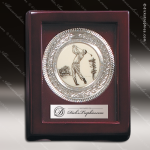 Engraved Presentation Tray Medallion Silver Nickel Plated Trophy Award Engraved Misc Gift Boxes
