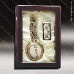 Golf Pocket Watch and Money Clip in Box Engraved Misc Gift Boxes