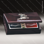 Poker Card Set in Golf Crest Box Engraved Misc Gift Boxes