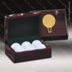Piano Finish Golf Ball Case Engraved Misc Gift Boxes