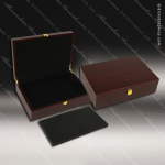 Engravable Gift Rosewood Award Presentaion Box - Economy Satin Finish Engraved Misc Gift Boxes