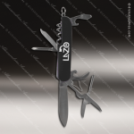 Laser Engraved Keychain Pocket Knife Multi-Tool 8 Function Black Gift Award Engraved Multi-Tool & Knifes