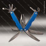 Laser Engraved Keychain Pocket Knife Multi-Tool 11 Function Blue Gift Award Engraved Multi-Tool & Knifes