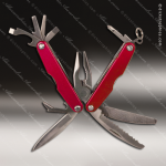 Laser Engraved Keychain Pocket Knife Multi-Tool 11 Function Red Gift Award Engraved Multi-Tool & Knifes