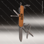 Laser Engraved Keychain Pocket Knife Multi-Tool 8 Function Wood Gift Award Engraved Multi-Tool & Knifes