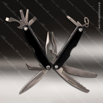 Laser Engraved Keychain Pocket Knife Multi-Tool 11 Function Black Gift Awar Engraved Multi-Tool & Knifes