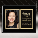 Engraved Black Piano Finish Plaque Insert Photograph Engraved Photo Picture Plaques