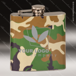 Engraved Stainless Steel Flask 6 Oz. Army Camouflage Gift Award Engraved Stainless Flasks