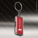 Laser Engraved Keychain 8GB USB Flash Thumb Drive Red Gift Award Engraved USB Items