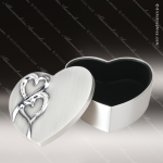 Silver Finish Hearts Wedding Box Engraved Wedding Gifts