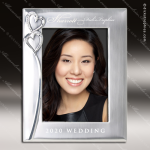 The Jewel Engraved Metal Photo Picture Frame Heart Wedding Silver Letters Engraved Wedding Gifts