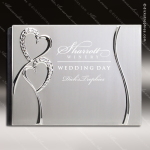 The Jewel Engraved Metal Photo Picture Alubum Heart Wedding Silver Letters Engraved Wedding Photo Frames Albums