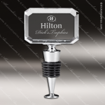 Engraved Wine Stopper Crystal Rectangle Shaped Gift Award Engraved Wine Stoppers