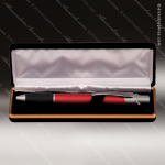 Gloss Ballpoint Pen & Velvet Case Set Engraved Wood Pen Cases