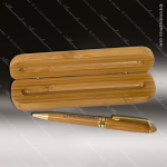 Engraved Wood Bamboo Pen & Pen Case Set Engraved Wood Pen Cases