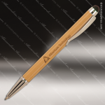 Engraved Wood Bamboo Ballpoint Pen with Stylus Engraved Wood Writing Pens