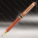 Engraved Wood Wide Wood Pen with Black/Gold Trim - Copy Engraved Wood Writing Pens