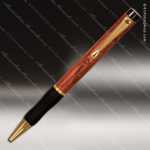 Engraved Wood Rosewood Pen with Gripper Engraved Wood Writing Pens