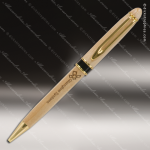 Engraved Wood Wide Wood Pen with Black/Gold Trim Engraved Wood Writing Pens