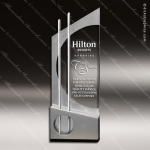 Crystal Silver Accented Summit Endeavor Trophy Award Executive Crystal Awards