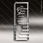 Crystal  Clear Rectangle Steps to Success Trophy Award Executive Crystal Awards