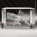 Crystal  Beveled Back Rectangle Trophy Award Executive Crystal Awards