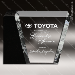 Crystal Black Accented Corporate Eclipse Trophy Award Executive Crystal Awards