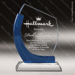 Crystal Blue Accented Chesapeake Trophy Award Executive Crystal Awards