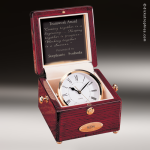 Desk Gift Rosewood Gold Accented Captain's Clock Award Executive Trophy Awards
