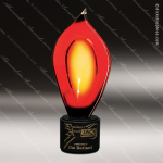Valencia Flame Artistic Red Orange Art Glass Trophy Award Exquisite Artistic Trophy Awards