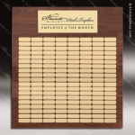 The Mellado Walnut Perpetual Plaque 150 Gold Plates Extra Large Perpetual Plaques - 100+ Plates