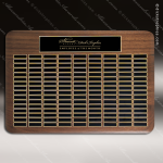 The Tofollla Walnut Perpetual Plaque 144 Black Plates Extra Large Perpetual Plaques - 100+ Plates