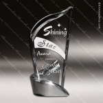 Acrylic Metal Accented Summit Pirouette Trophy Award Fan Wave Shaped Acrlic Awards