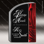 Acrylic Red Accented Velvet Wave Trophy Award Fan Wave Shaped Acrlic Awards