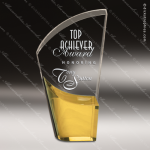 Acrylic Gold Accented Lunar Trophy Award Fan Wave Shaped Acrlic Awards