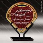 Acrylic Red Accented Infinity Fan Trophy Award Fan Wave Shaped Acrlic Awards