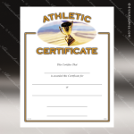 Certificate Award Preprinted Fill In Blank - Athletic Participation Fill in the Blank Certificates