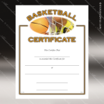 Certificate Award Preprinted Fill In Blank - Athletic Basketball Fill in the Blank Certificates