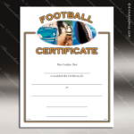 Certificate Award Preprinted Fill In Blank - Athletic Football Fill in the Blank Certificates