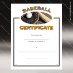 Certificate Award Preprinted Fill In Blank - Athletic Baseball Fill in the Blank Certificates