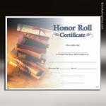 Certificate Photo Series Honor Roll Award Fill in the Blank Certificates