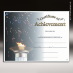 Certificate Photo Series Achievement Award Fill in the Blank Certificates
