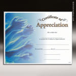 Certificate Photo Series Appreciation Award Fill in the Blank Certificates