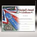 Certificate Photo Series Principal's Award Fill in the Blank Certificates