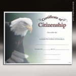 Certificate Photo Series Citizenship Award Fill in the Blank Certificates