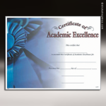 Certificate Photo Series Academic Excellence Award Fill in the Blank Certificates